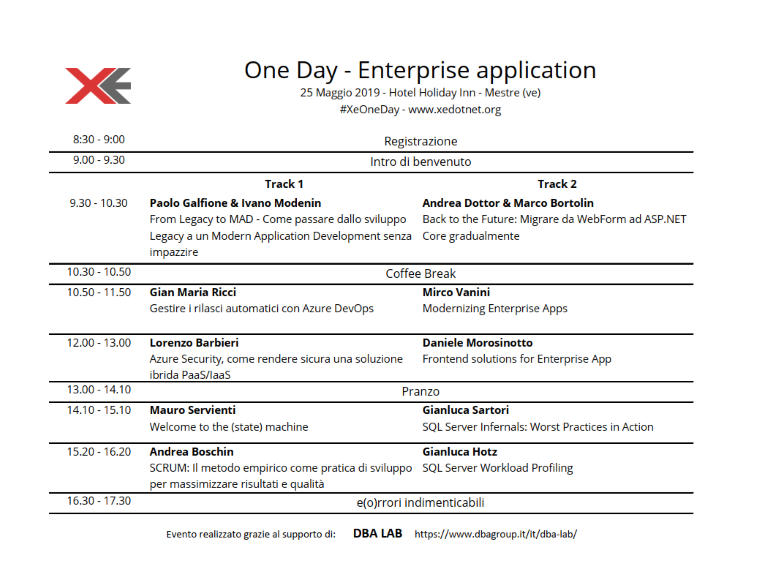 Preview Agenda XeOneDay